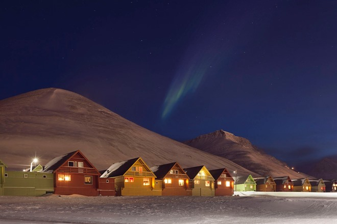 Longyearbyen during the polar night