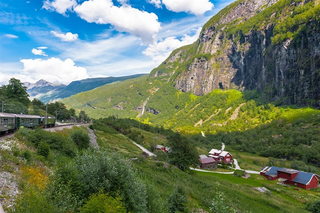 Gorgeous views of the Flåm railway
