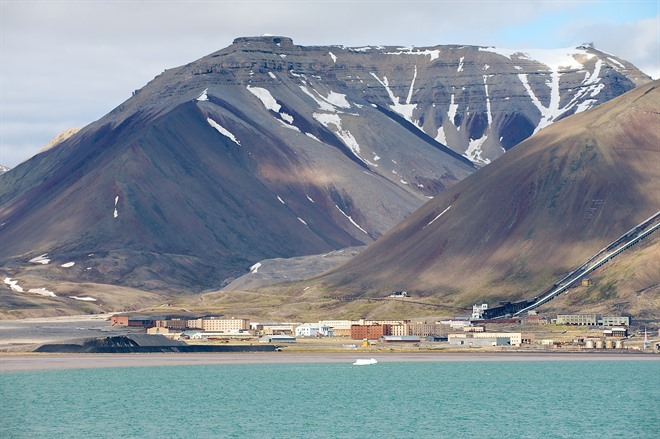 Abandoned mining town, Pyramiden in Svalbard
