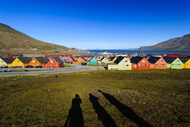 Longyearbyen in the summertime