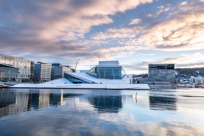 Oslo Harbour and Opera House