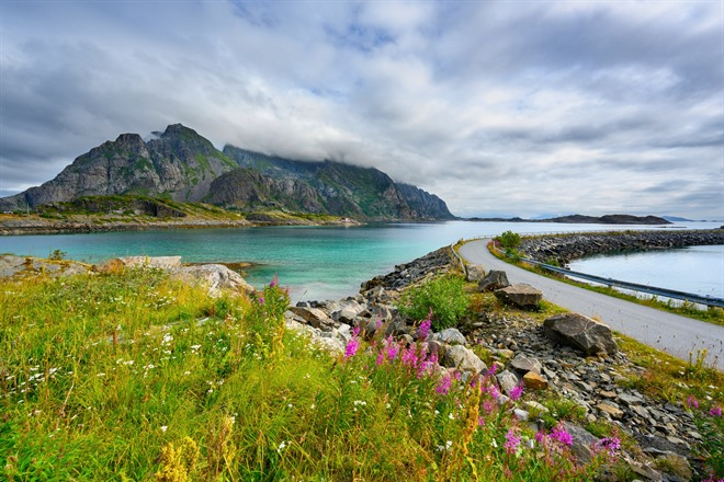 Road in the Lofoten Islands
