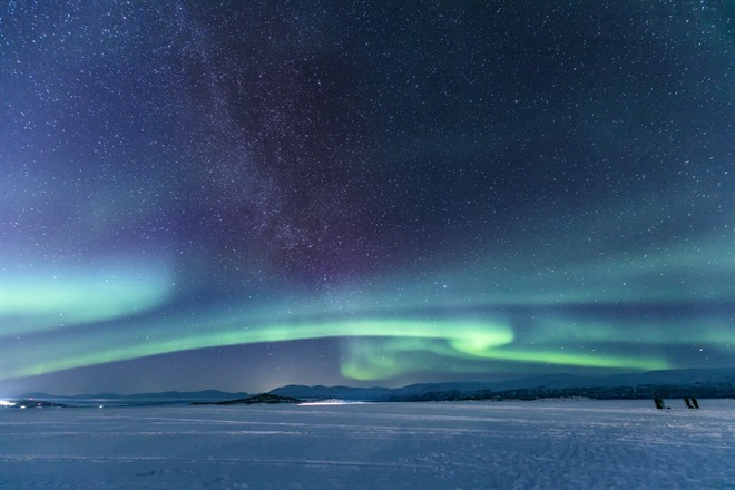 Northern lights in Abisko National Park