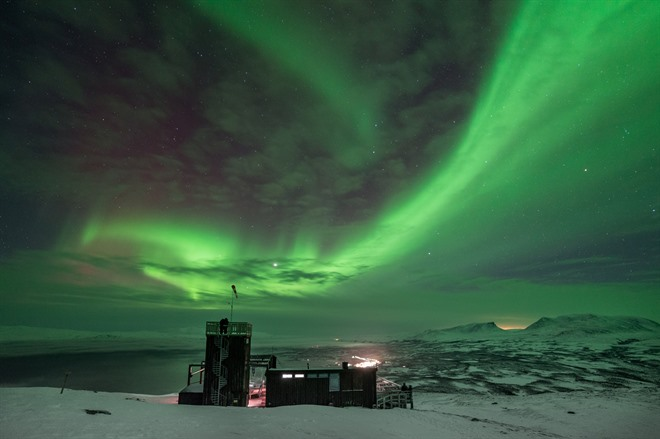 Northern lights over Abisko Sky Station