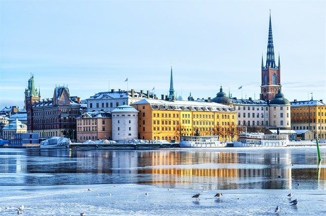 Stockholm City in the Wintertime