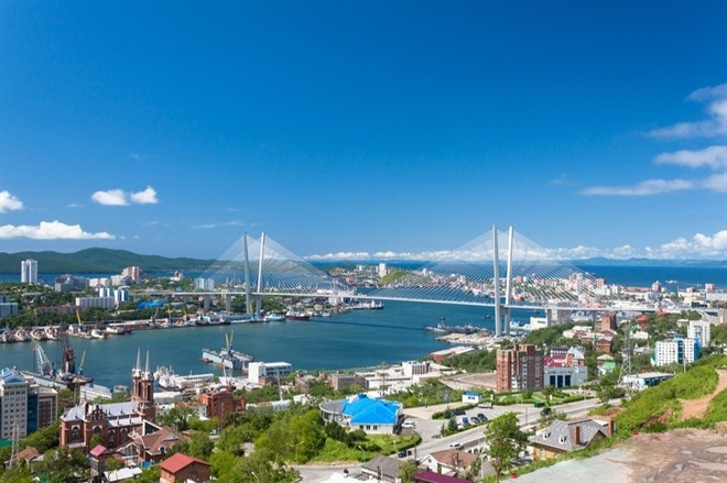 ARRIVE IN VLADIVOSTOK