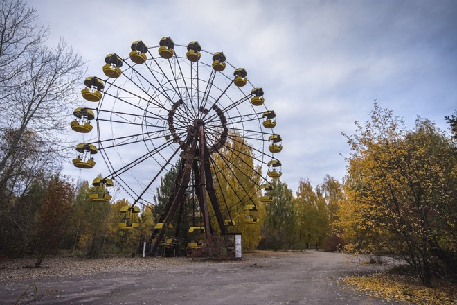 Ferris Wheel in Pripyat near Chernobyl