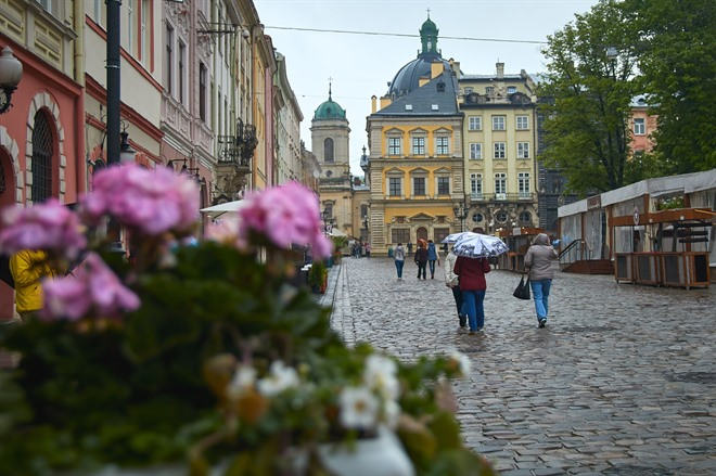 Street view in Lviv Old Town