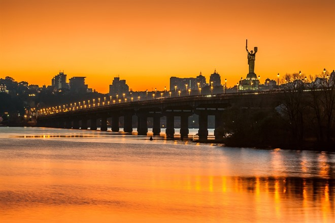 Kyiv at sunset