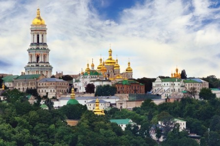 View of Perchersk Lavra Monastery Complex, Kyiv