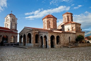 The Monastery of Saint Naum situated along Lake Ohrid
