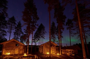 Arctic Retreat in the northern lights