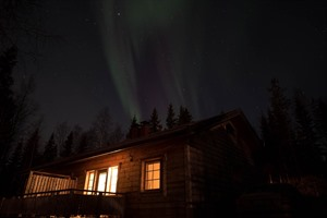 Northern Lights at the Arctic Riverside Lodge