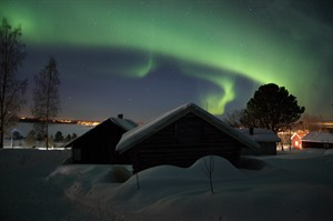 Northern Lights over the Arthotel Tornedalen