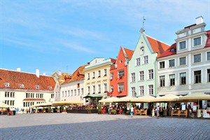 Very beautiful old Town Hall Square, Tallinn