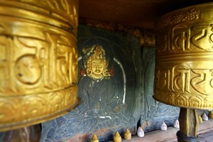 Temple art and tsa-tsa offerings in Bhutan