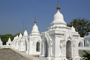 Kuthodaw Pagoda in Mandalay