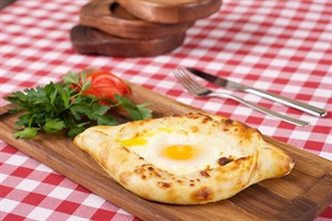 Khachapuri, traditional Georgian bread