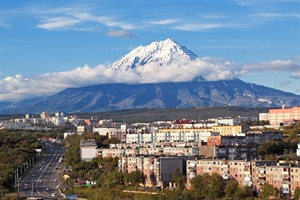 City landscape of Petropavlovsk-Kamchatsky