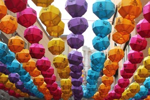 Colourful lanterns for Buddhist festival in Busan