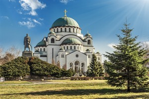Saint Sava cathedral & Monument of Karageorge Petrovitch, Belgrade