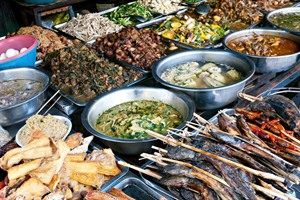 Local Cambodian dishes