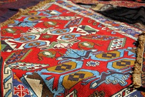 Georgian carpets in Tbilisi