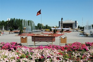 Central square in Bishkek