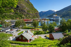 The fjord-side village of Flam