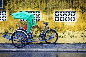 Cyclo on the streets of Hanoi