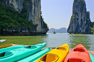 Halong Bay kayaks, Vietnam