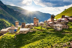 Village in Upper Svaneti