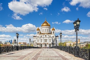 The Cathedral of Christ the Savior in Moscow - Russia