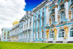 Katherine's Palace hall in Tsarskoe Selo - Russia