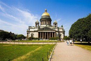 Isaac cathedral in St Petersburg - Russia