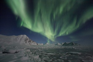 The Northern Lights in Winter