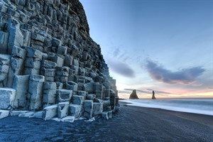 Reynisdrangar Rock Formations on Reynisfjara Beach