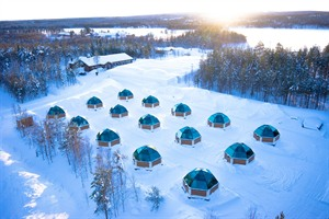 The glass igloos from above