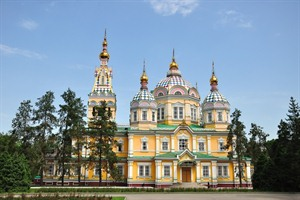 The Ascension Cathedral in Almaty
