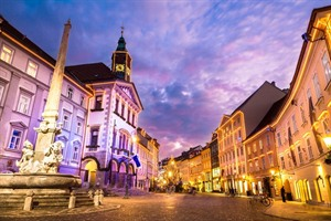 Medieval city of Ljubljana