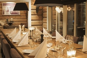 Dining room at Lyngen Lodge