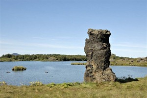 Basalt pillar at Lake Myvatn - Iceland