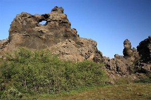 Lava formations at Dimmuborgir, Iceland