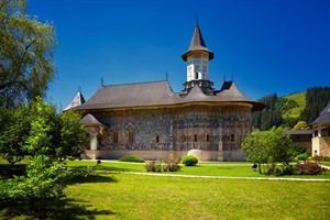 Sucevita painted monastery in Bucovina