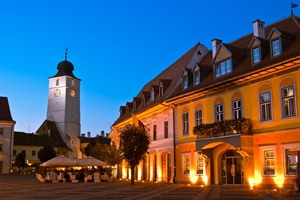 Main square & council tower, Sibiu