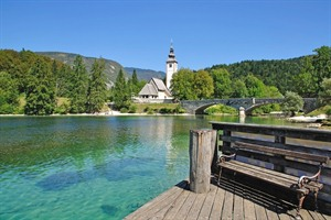 The Church of Sveti Janez on Lake Bohinj