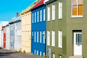 Colourful houses, Reykjavik
