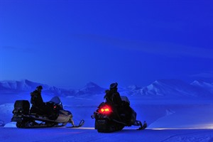 Snow Mobiles on Svalbard