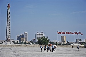 Pyongyang & the Juche Tower, photo by Carl Meadows - North Korea specialist