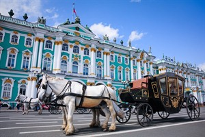 Carriage near the Hermitage, St. Petersburg